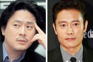 박찬욱(왼쪽), 이병헌.