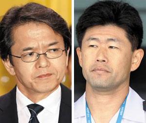 마루야마 고헤이(왼쪽), 다카하시 히데아키.