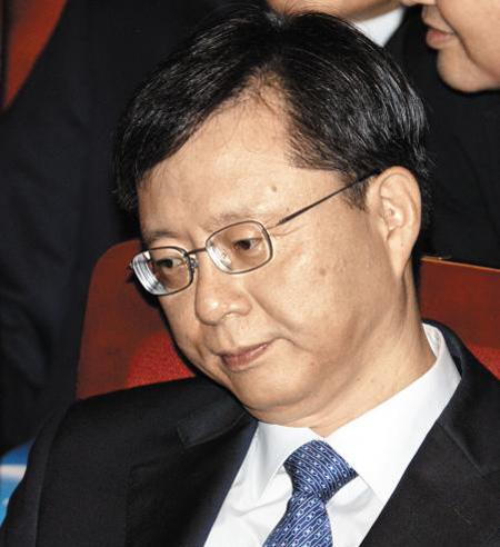 15일 오전 서울 세종문화회관에서 열린 71주년 광복절 경축식에 참석한 우 수석.