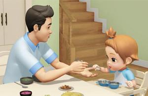 남성이 전업주부로 나오는 어린이 TV 애니메이션 '애슬론 또봇'.