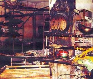 2005년 화재로 타버린 성심당 1층 매장 내부 모습.