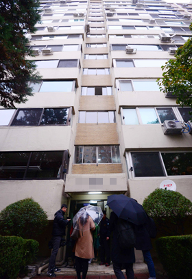 10일 검찰이 압수 수색한 서울 강남구 압구정동 우병우 전 민정수석의 아파트.