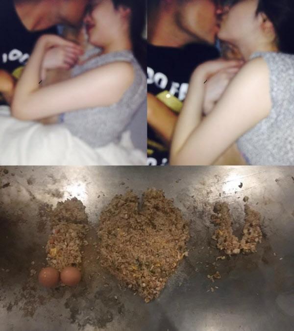 아이돌 그룹 출신 설리가 그동안 자신의 인스타그램에 올렸던 연애 사진들. /인터넷 캡처
