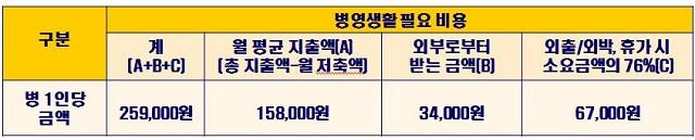 ▶출처: 한국국방연구원 조사 '병 봉급인상의 적정수준과 한계'