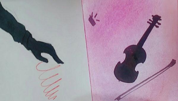 김양이 중학교 1학년 때 그림동아리 활동을 하며 그린 것으로 추정되는 그림들. /인터넷 캡처