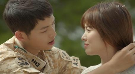 태양의 후예에서 호흡을 맞춘 송중기와 송혜교./KBS 화면 캡쳐