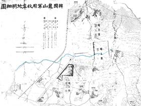 1906년 일본군의 토지 수용 관련 내부 문건에 포함된 옛 용산 지역 상세 지도.