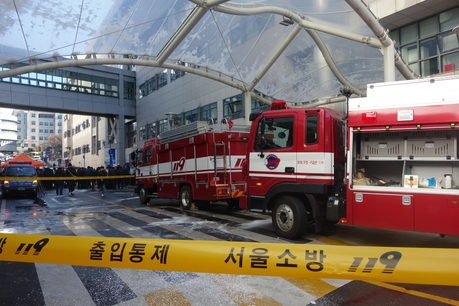 3일 오전 서울 서대문구 신촌세브란스 본관 3층에서 불이 나 300여명이 대피했다. /최문혁 기자