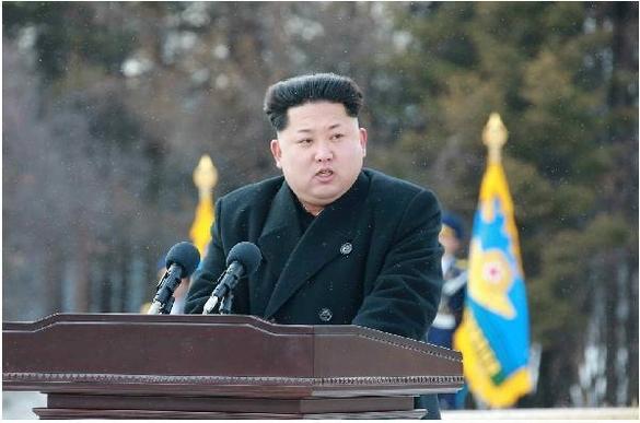 연설하는 김정은 북한 노동당 위원장/조선일보 DB