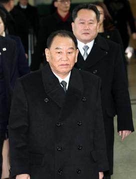 김영철 북한 노동당 부위원장 겸 통일전선부장이 25일 방한했다/사진공동취재단=연합뉴스