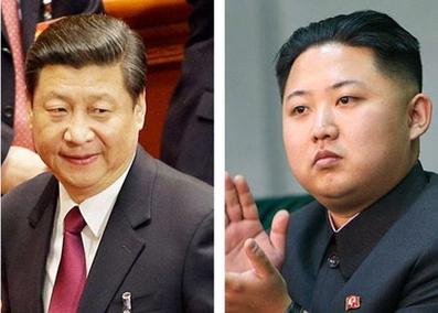 시진핑 중국 국가주석(왼쪽)과 김정은 북한 노동당 위원장. / AP·뉴시스·신화사