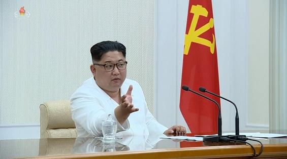 북한 김정은 노동당 위원장 겸 국무위원장이 지난 7일부터 8일까지 조선노동당 중앙군사위원회 제7기 제1차 확대회의를 했다고 18일 조선중앙TV가 보도했다. /조선중앙TV 캡처