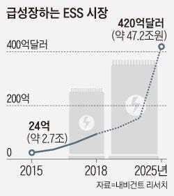 급성장하는 ESS 시장 그래프