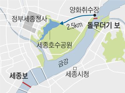 세종보 위치 지도