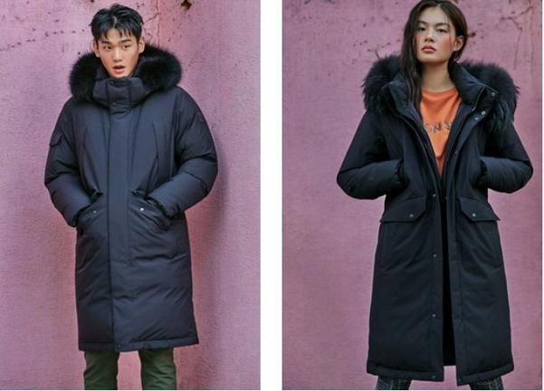 K 아웃도어 브랜드가 예약 판매 중인 거위 털 재킷, 한눈에 봐도 충전량의 차이가 보인다./쇼핑몰 캡처