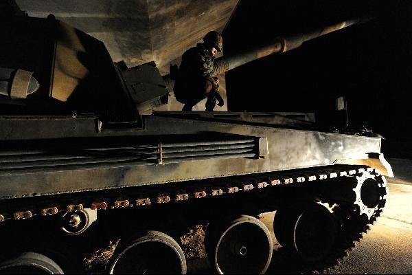 백령도에 배치된 K-9 자주포의 모습. 남북 군사합의로 11월1일부터는 백령도에서 K-9 자주포 실사격 훈련을 할 수 없게 됐다. /조인원 기자