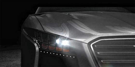 현대모비스가 개발한 지능형 램프의 모습. 이 램프는 주변에서 운행하는 차량의 움직임을 감지해 반대편이나 앞 차량 운전자의 눈을 부시지 않도록 각도를 조절하는 기능이 있다.