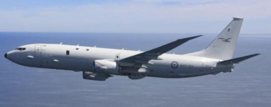 호주 정부가 대북감시를 위해 2018년 11월 30일 일본에 추가 파견하기로 한 호주 공군 소속 P-8A 포세이돈 해상 초계기. /호주 공군