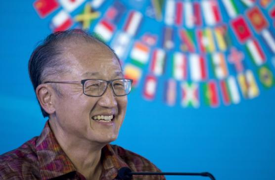 2018년 10월14일 인도네시아 발리에서 김용(미국명 Jim Yong Kim) 세계은행(WB) 총재가 연설하는 모습. /연합뉴스 AP