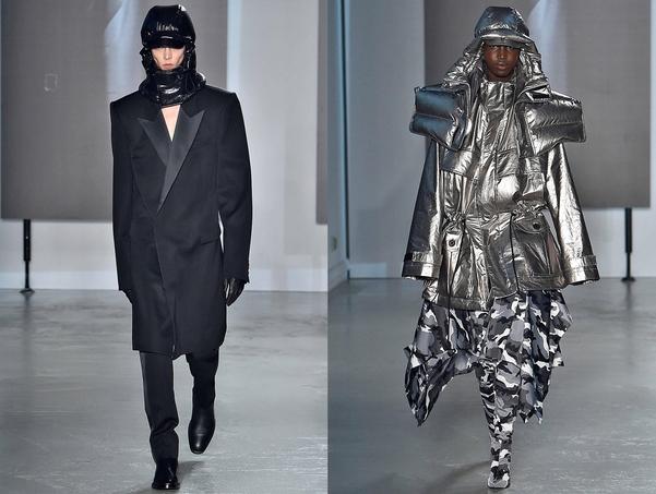 'SYNTHESIZE(합성)'을 주제로 한 이번 패션쇼는 형태와 소재, 문양의 경계를 허문 접목이 돋보였다. 이와 함께 캐나다구스와 협업한 패딩 재킷도 이목을 끌었다./삼성물산 패션부문 제공