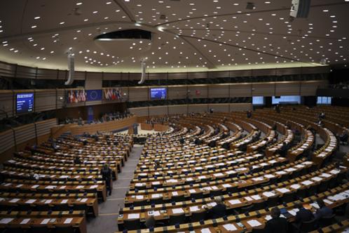 벨기에 브뤼셀에서 열린 유럽의회 본회의 전경. /AP 연합뉴스