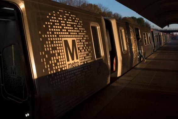 미국 메릴랜드주 록빌역에 지하철 '메트로'가 정차해 있다. /WP