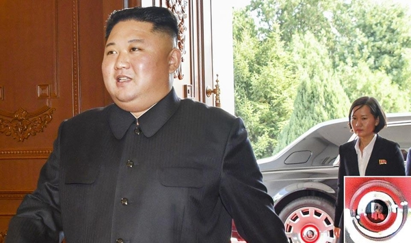 지난해 10월 마이크 폼페이오의 방북 당시 김정은 국무위원장이 롤스로이스 차량을 타고 이동하는 모습이 포착됐다./미 국무부