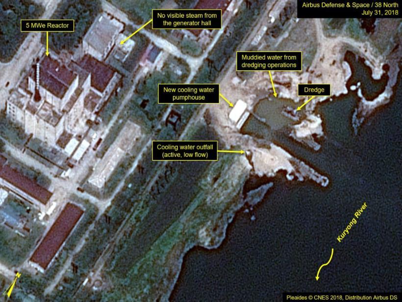 지난해 7월말 촬영된 北영변 상업 위성사진