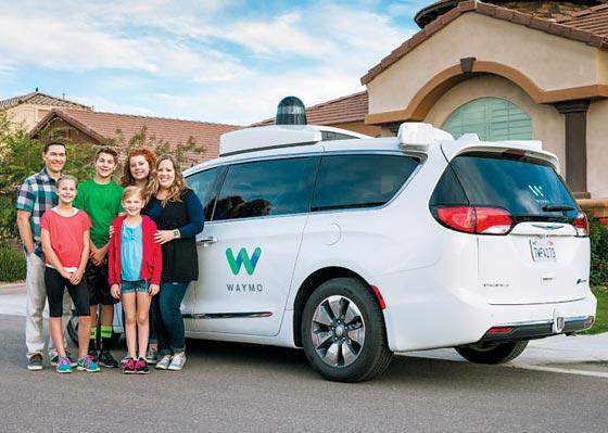 구글의 자율주행차 자회사 웨이모가 개발한 자율주행차의 모습.