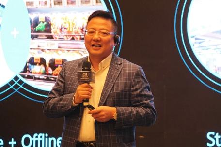 중국 신유통 원조로 불리는 허마센성의 창업자 호우이는 허마를 냉장고에 비유했다. /상하이=오광진 특파원