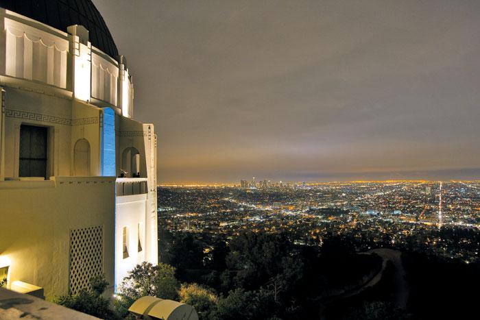 영화 '라라랜드' 촬영지이자 LA의 야경 명소인 그리피스 천문대.