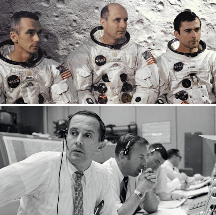1969년 5월 아폴로 10호에 탑승했던 우주비행사들.