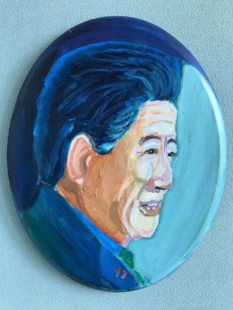 조지 W 부시 전 미국 대통령이 그린 노무현 전 대통령의 모습. /노무현재단 제공