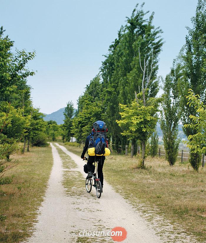 경기도 여주 강천섬은 자전거 캠핑 명소다. 한강자전거길·남한강자전거길과 이어진다.