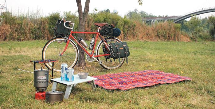 '자캠'용으로 인기인 자전거 브랜드 '아라야'의 자전거.