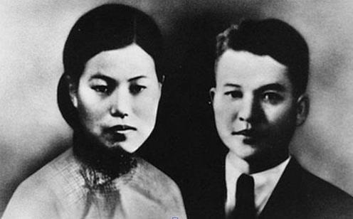 의열단원 박차정(왼쪽)과 의열단장 김원봉의 결혼사진./연합뉴스