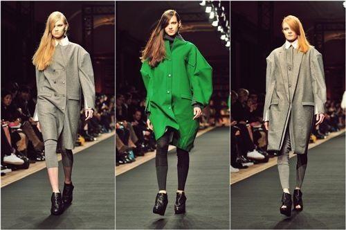 2012년헥사 바이 구호 FW 파리 컬렉션. 구조적인 멋이 살아 있는 구호의 옷은 패션 저널리스트들에게 큰 갈채를 받았다.