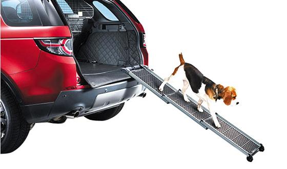 고령견·소형견 등이 쉽게 차 트렁크에 오르내릴 수 있도록 돕는 사다리.