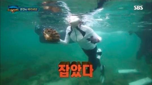 지난달 29일 방송된 SBS의 인기 예능 '정글의 법칙' 캡처