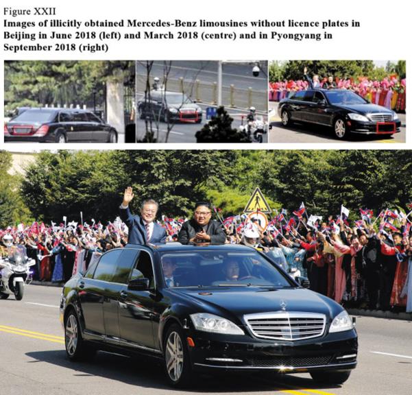 유엔 제재위반 보고서에 실린 '평양 카퍼레이드' 사진/유엔제재위반보고서·평양사진공동취재단