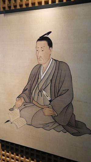 요시다 쇼인 신사에 걸려 있는 요시다 쇼인의 공식 초상화.