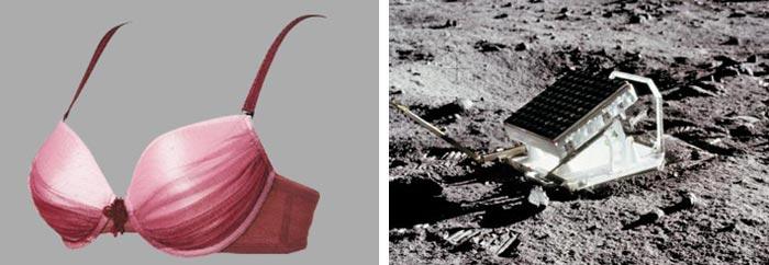 (왼쪽)브래지어까지 우주기술, (오른쪽)50년간 지구와 소통한 거울상자