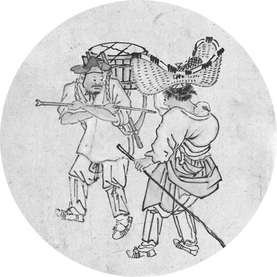 18세기 생활상을 엿볼 수 있는 김홍도의 '행상'.