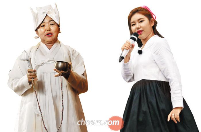 진도 출신 트로트 가수 송가인(오른쪽)과 모친 송순단씨.