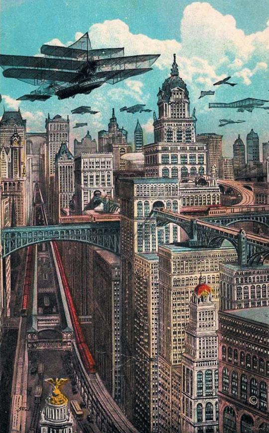 1925년에 상상한 미래의 뉴욕시.