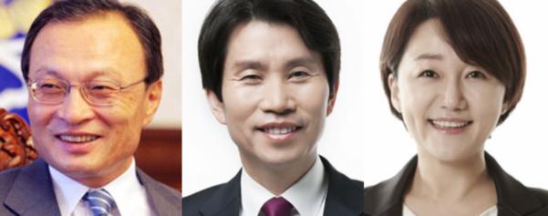 더불어민주당 이해찬 당대표, 이인영 원내대표, 이재정 대변인. /조선DB