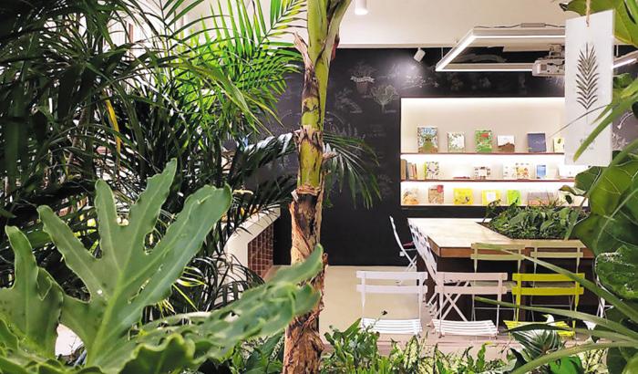 숲처럼 나무가 우거진 서울 전일중학교 자연 체험형 교실 '마음풀'.