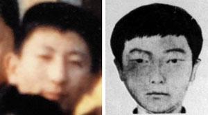 고등학교 시절 이춘재(왼쪽), 사건당시 몽타주