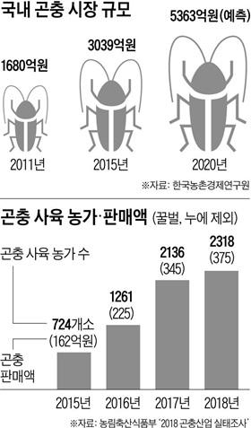 국내 곤충 시장 규모