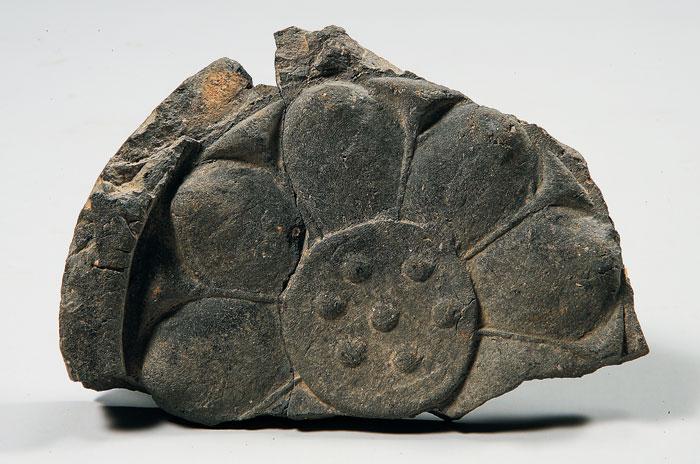 연꽃무늬 수막새, 정지산 유적, 국립공주박물관.